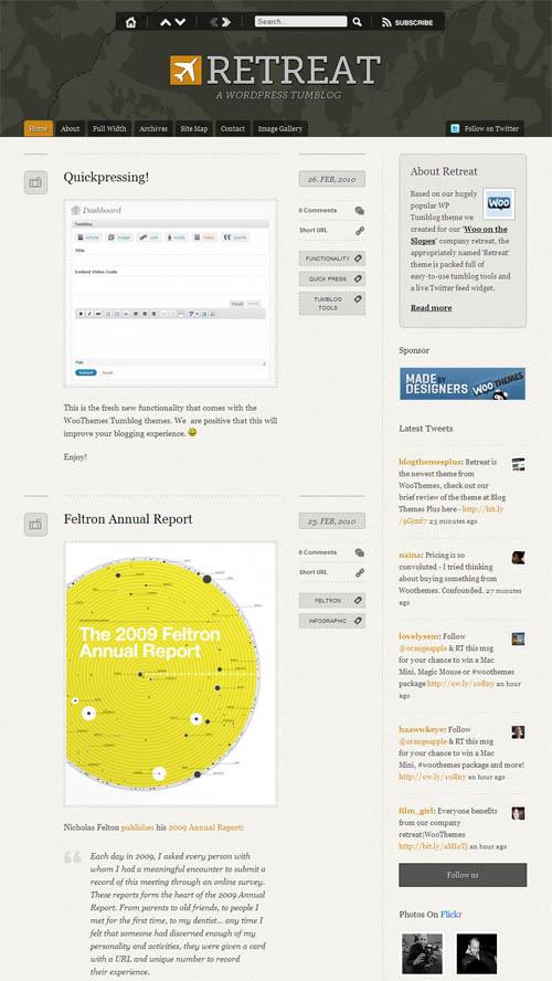 Retreat Microblog Premium WordPress Theme   Best WordPress Themes