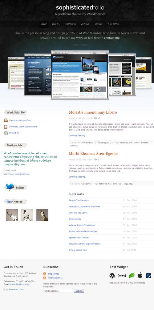 WooThemes-SophisticatedFolio