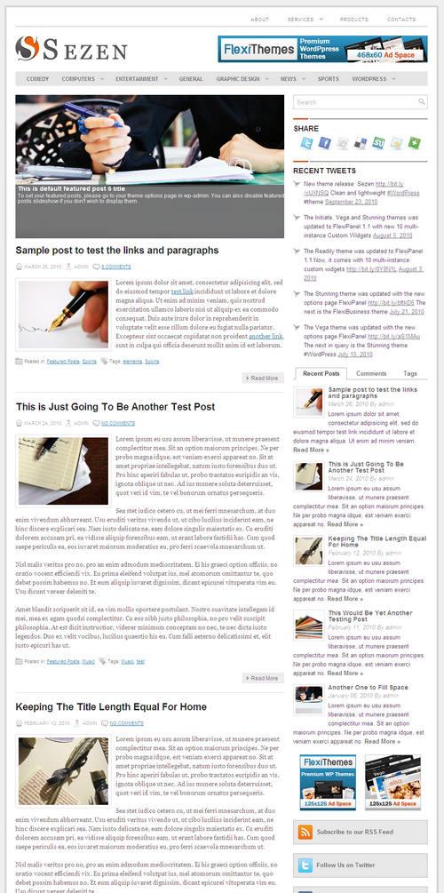 Sezen Business Premium WordPress Theme