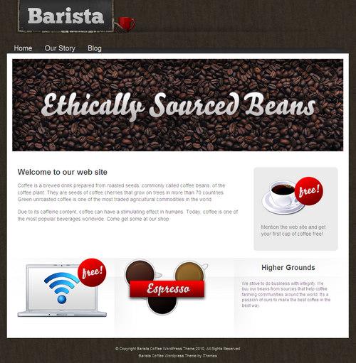 Barista Coffee WordPress Theme