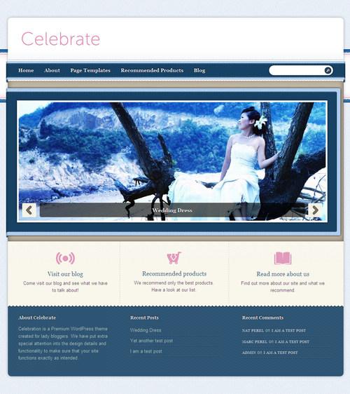 Celebrate Premium WordPress Theme