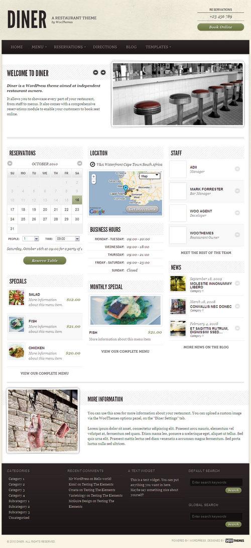 Diner Premium WordPress Theme
