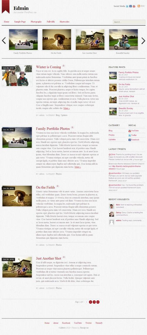 Edmin Premium WordPress Theme