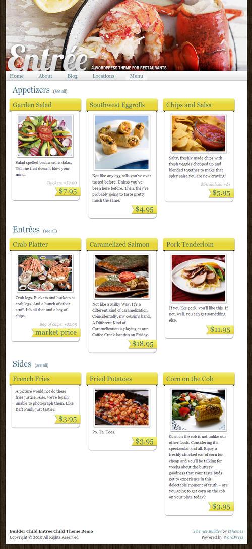 Entree Premium WordPress Theme