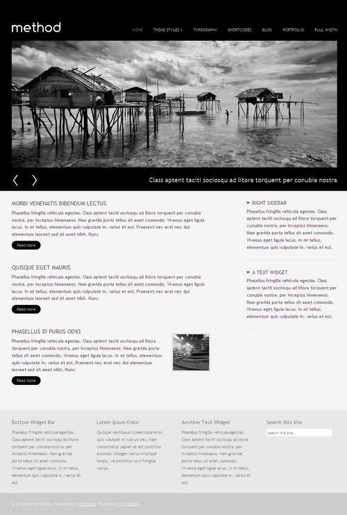 Method Portfolio WordPress Theme screenshot