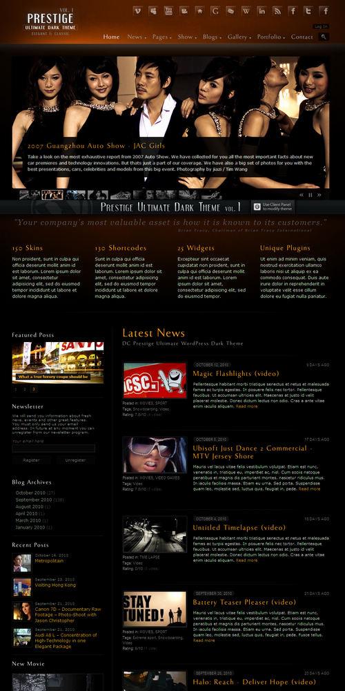 Prestige Premium WordPress Theme from themeforest