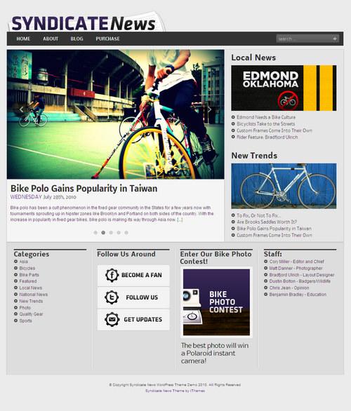 Syndicate News Premium WordPress Theme