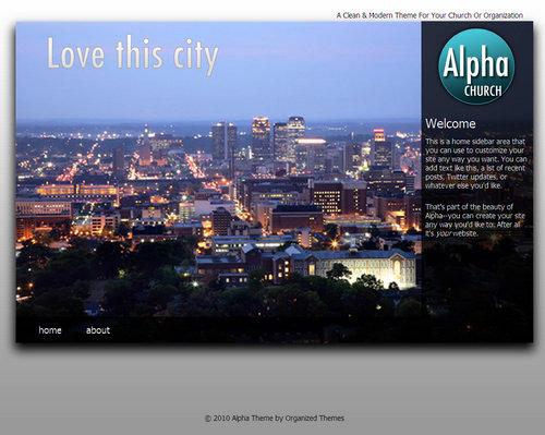 Alpha Church WordPress Theme