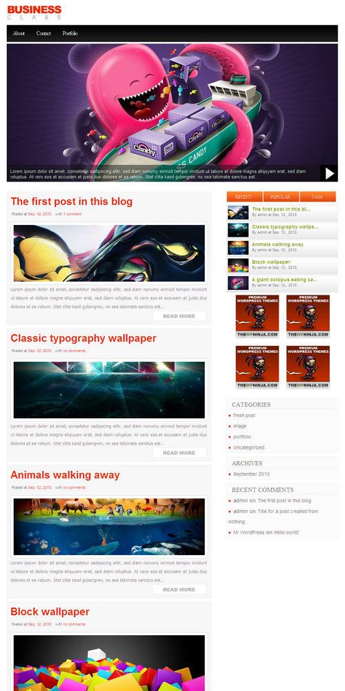 BusinessClass Premium WordPress Theme