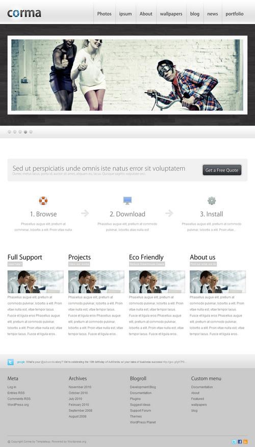 Corma Business Portfolio WordPress Theme
