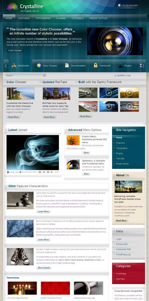 Crystalline Premium WordPress Theme