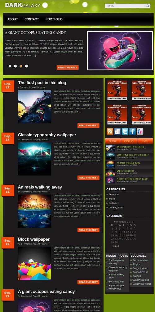 DarkGalaxy Premium WordPress Theme