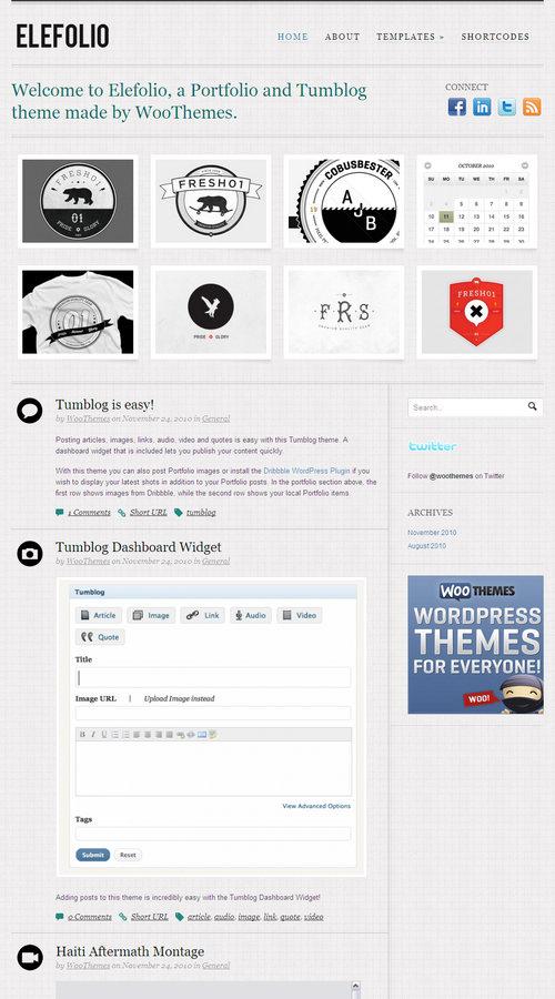 Elefolio Premium WordPress Theme