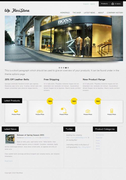 FlexiShop E-Commerce Premium WordPress Theme