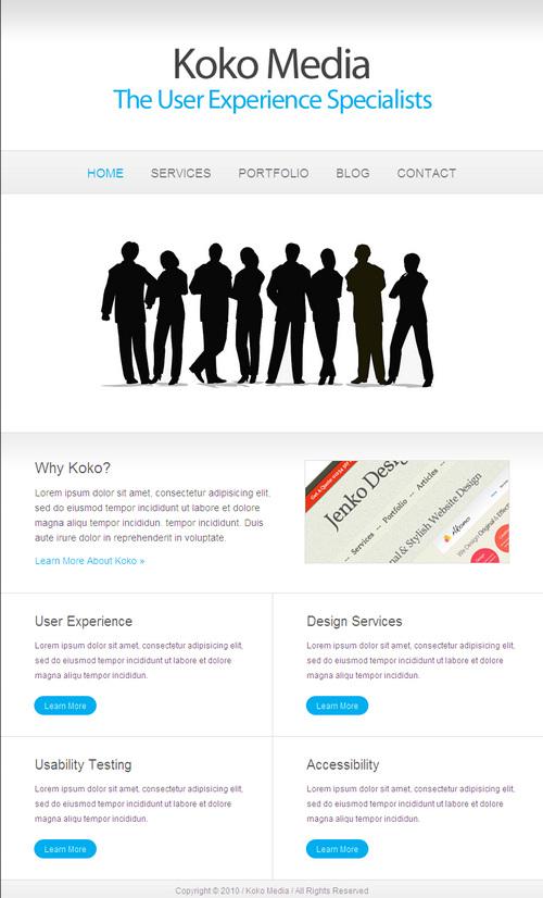 Koko Minimalist Business WordPress Theme