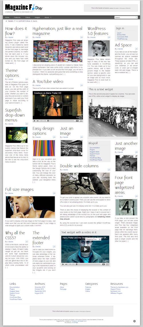 Magazine Flow WordPress Theme