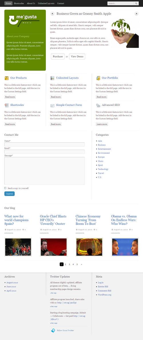 Me'gusta Premium WordPress Theme