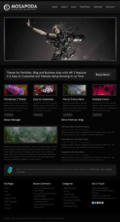 Mosapoda Portfolio Premium WordPress Theme