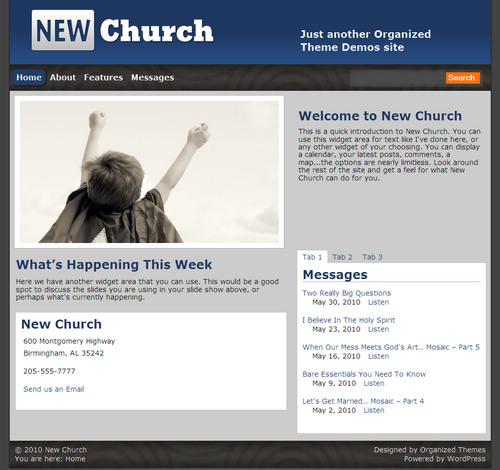 New Church Premium WordPress Theme