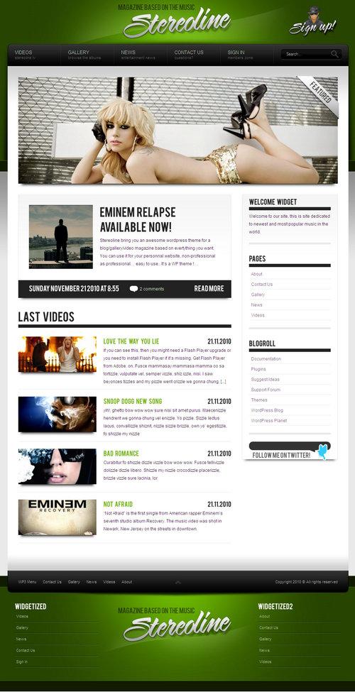 Stereoline Magazine WordPress Theme 30 in 1
