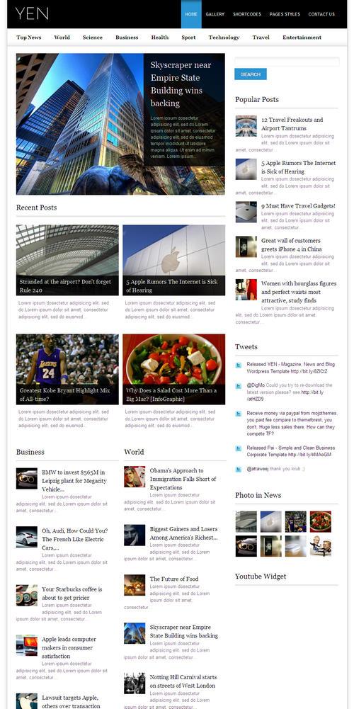 Yen Magazine Premium WordPress Theme