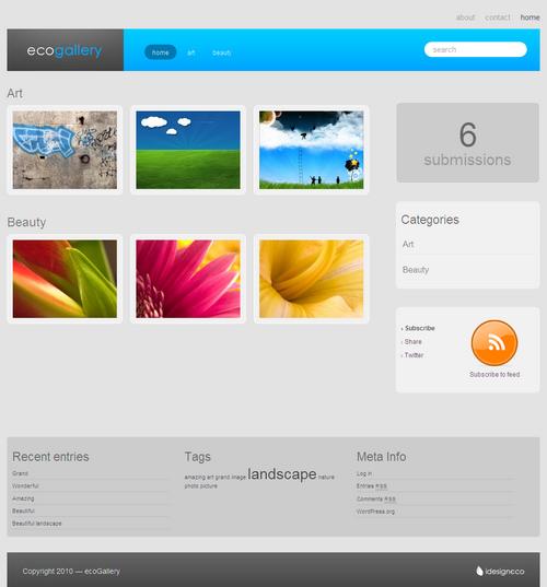 ecoGallery Premium WordPress Theme