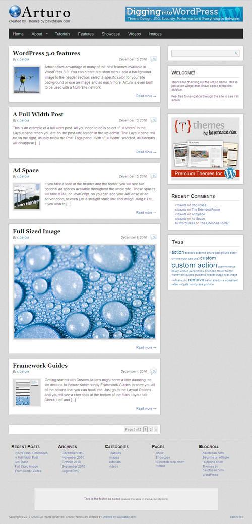 Arturo Premium WordPress Theme Framework
