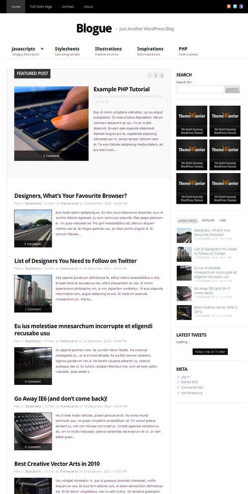 Blogue Premium WordPress Theme