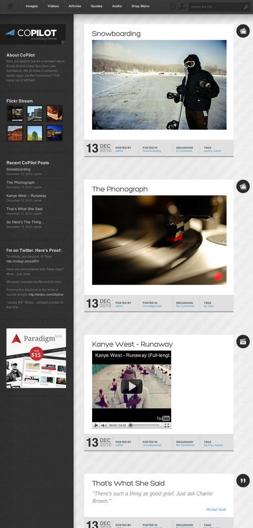 CoPilot WordPress Tumblog Theme