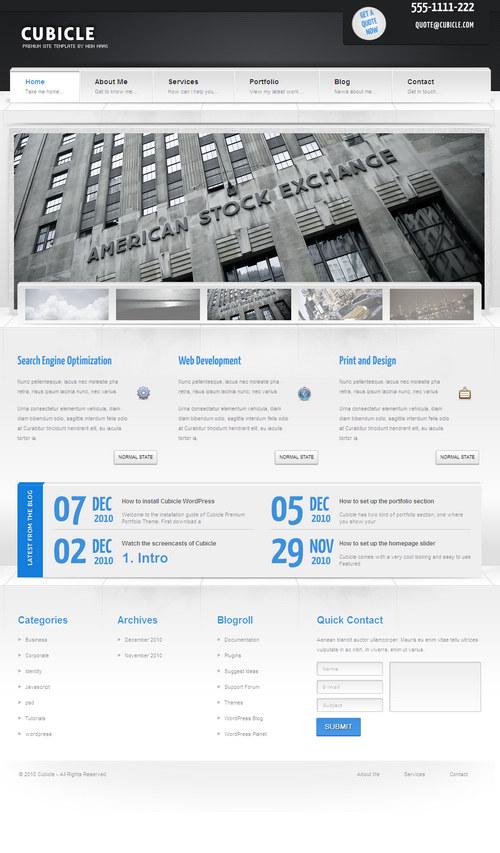 Cubicle Premium WordPress Theme