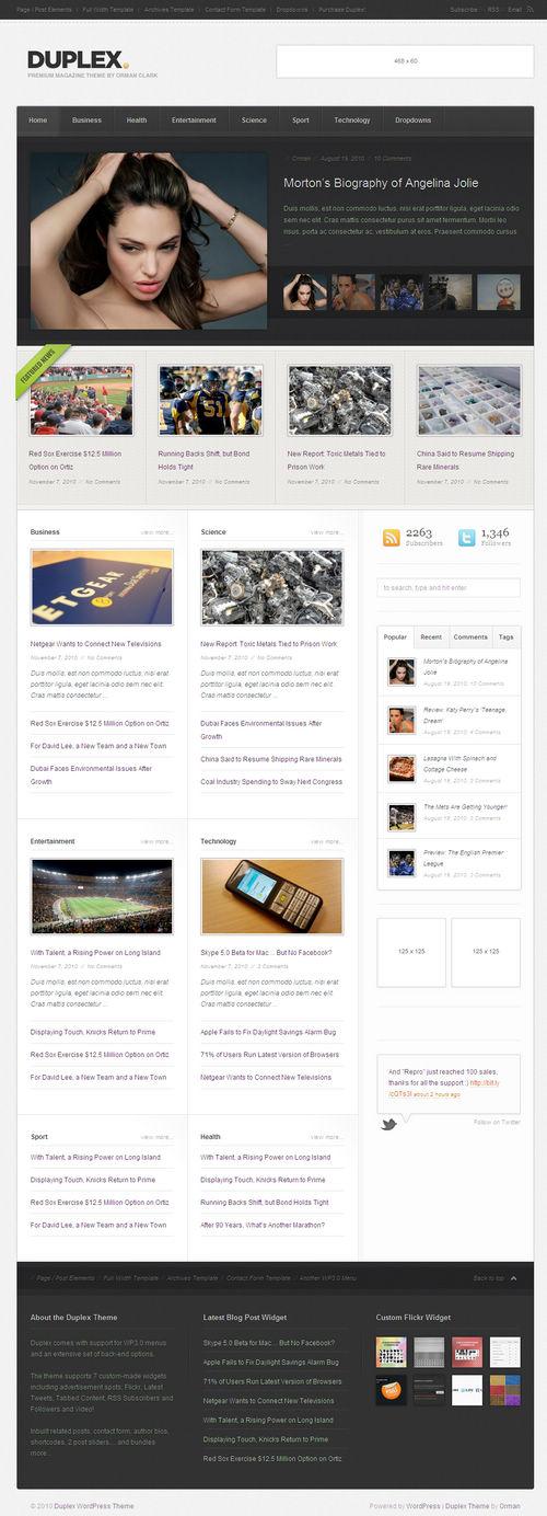 Duplex WordPress Theme