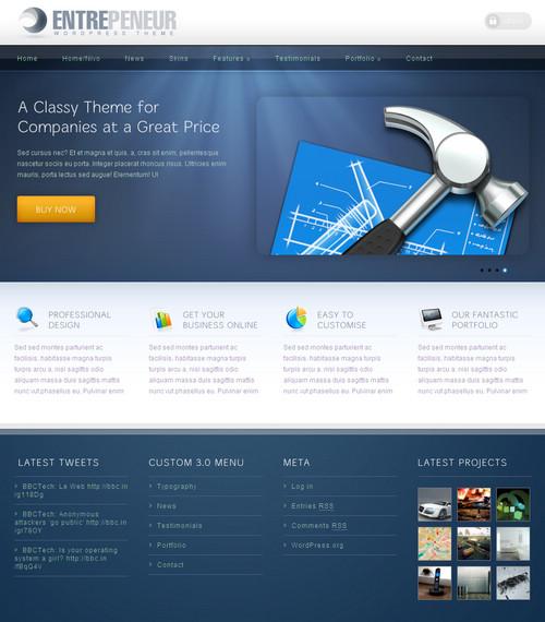 Entrepeneur Business WordPress Theme