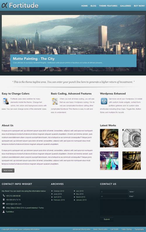 Fortitude Portfolio WordPress Theme