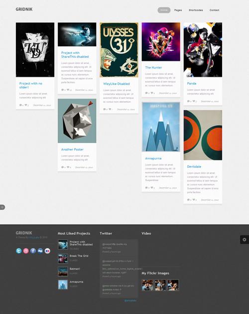 Gridnik Portfolio WordPress Theme