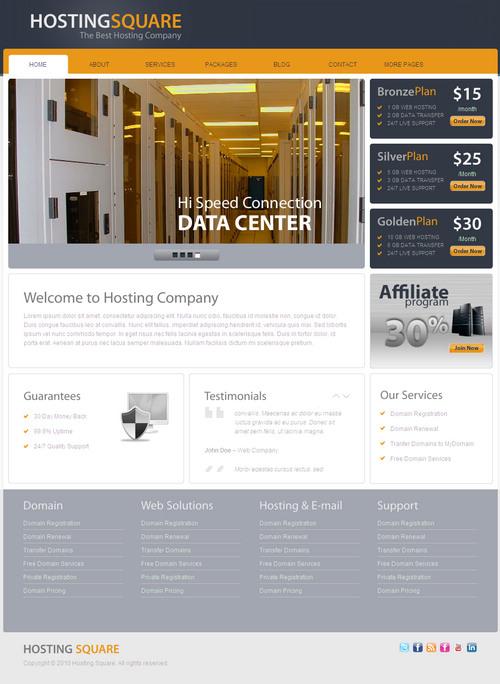 HostingSquare Hosting WordPress Theme