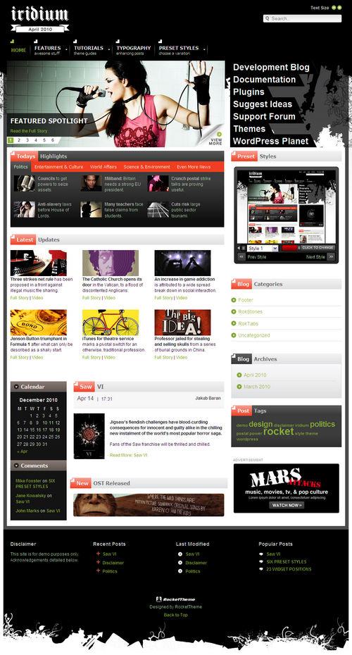 Iridium Premium WordPress Theme