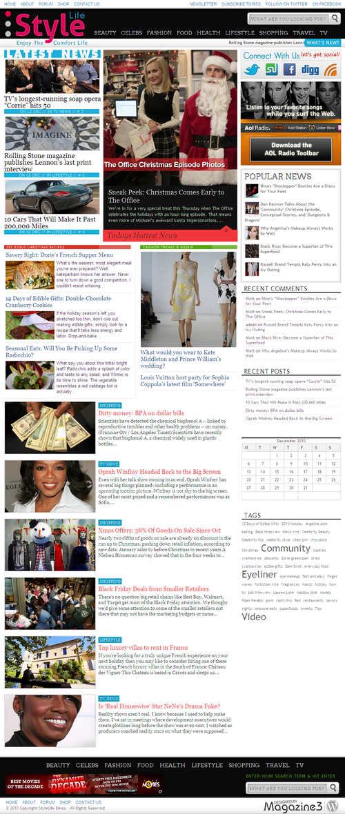 StyleLife Premium WordPress Theme