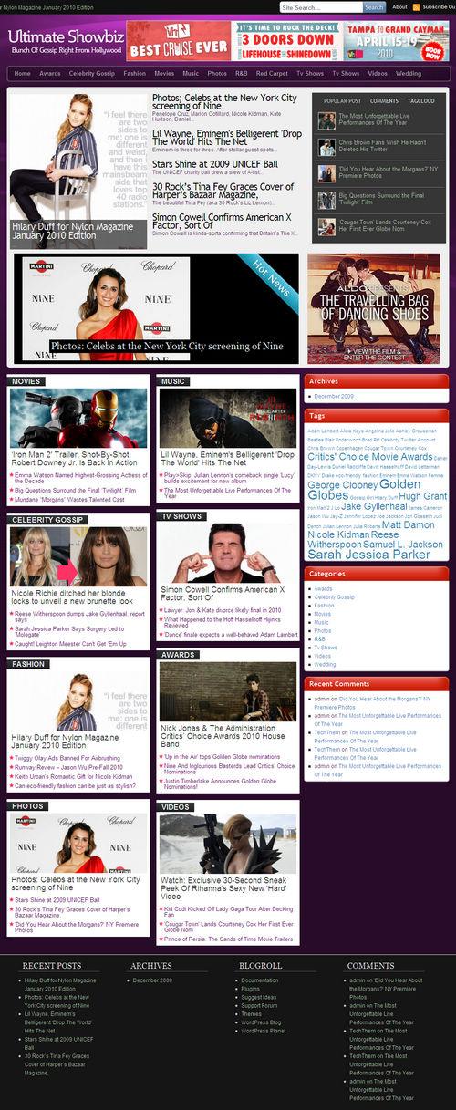 Ultimate Showbiz WordPress Theme