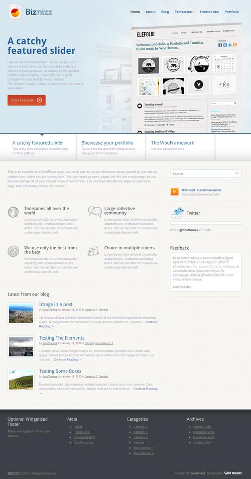 Biznizz WordPress Theme