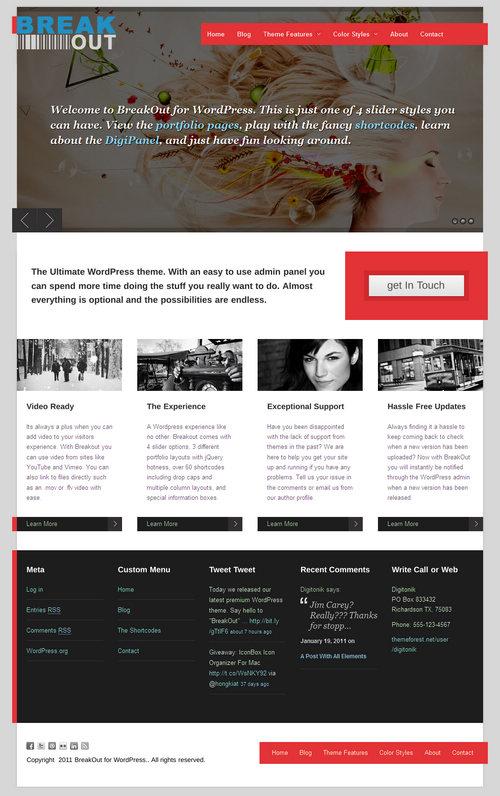 BreakOut Pro Premium WordPress Theme