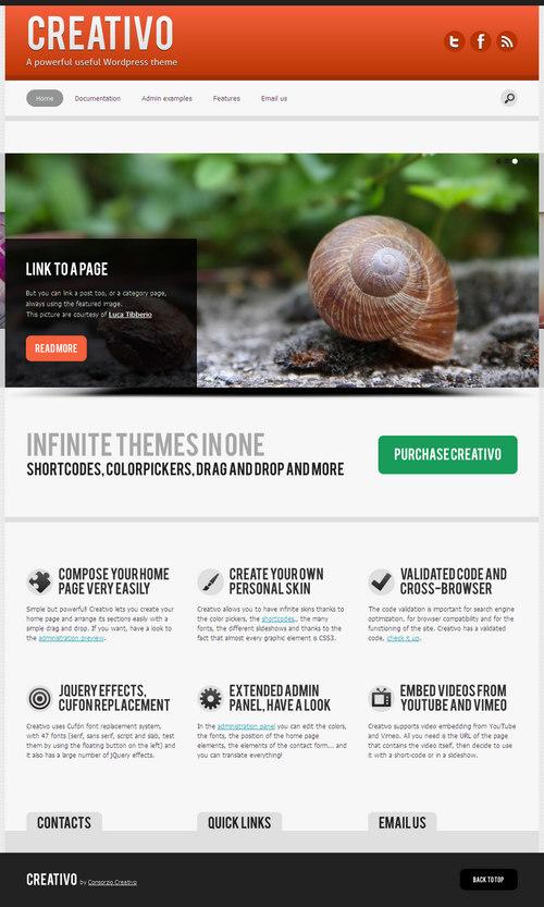 Creativo Premium WordPress Theme