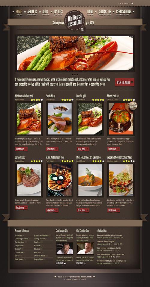 Ermark Adora Restaurant WordPress Theme