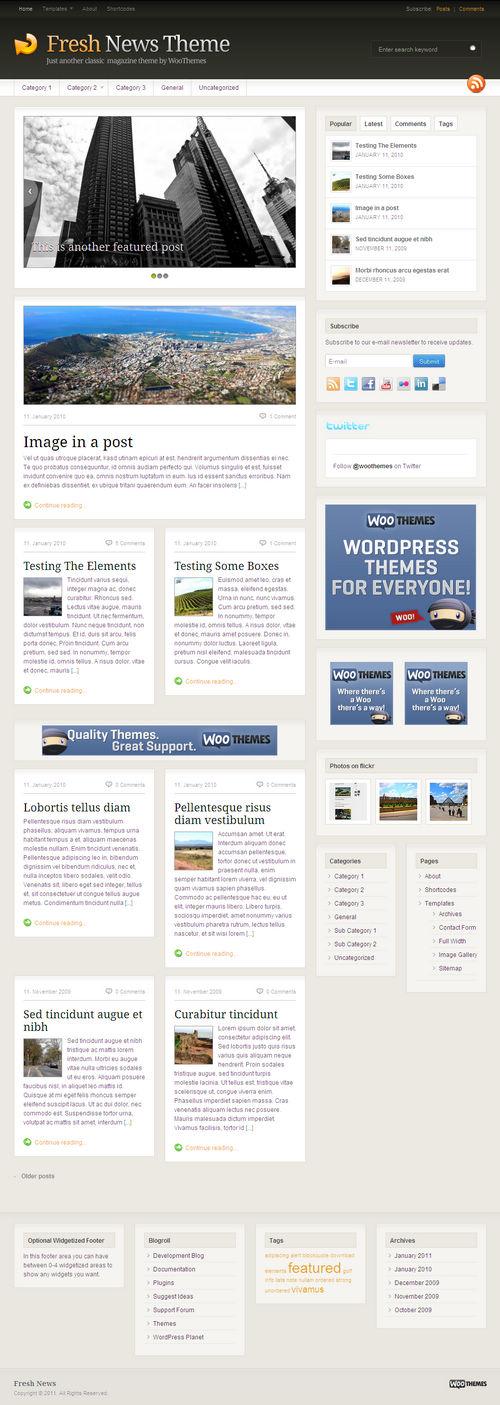 Fresh News 3.0 Premium WordPress Theme