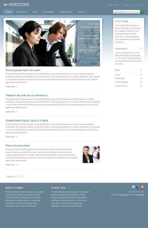 Horizons WordPress Theme