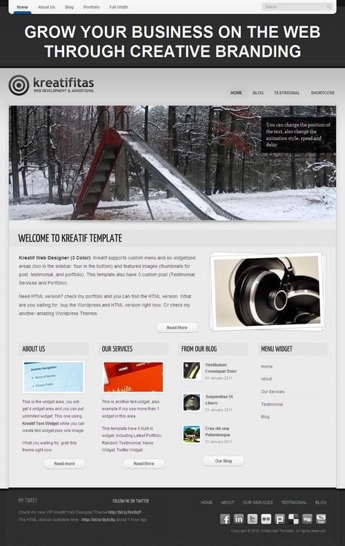 Kreatif Premium WordPress Theme