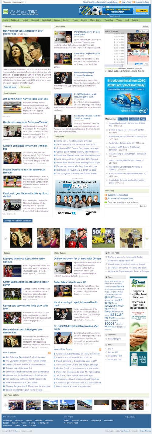 Max Premium WordPress Theme