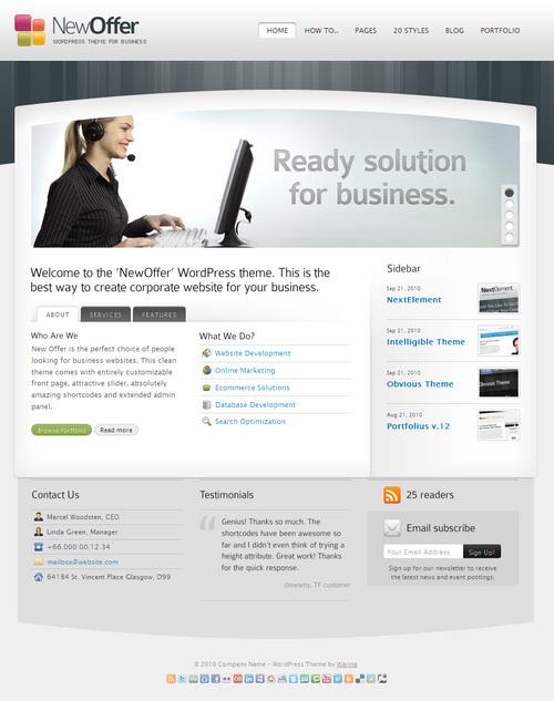 New Offer Business WordPress Theme