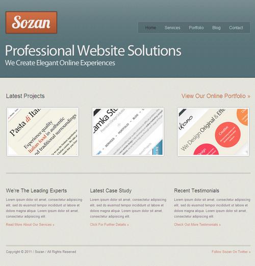 Sozan Business Portfolio WordPress Theme