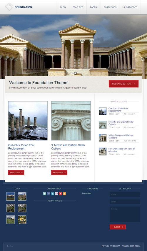 ThemeForest Foundation WordPress Theme