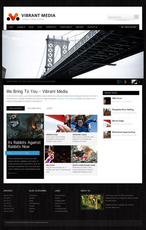 Vibrant Media Premium WordPress Theme